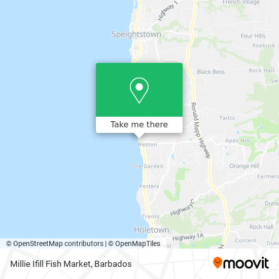 Millie Ifill Fish Market map