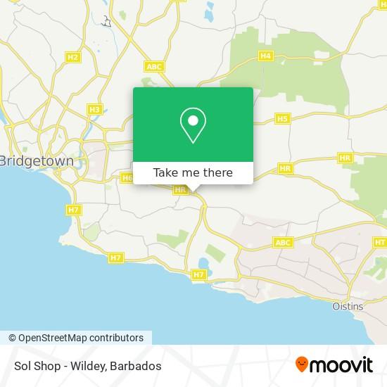 Sol Shop - Wildey map