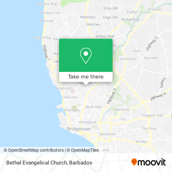 Bethel Evangelical Church map