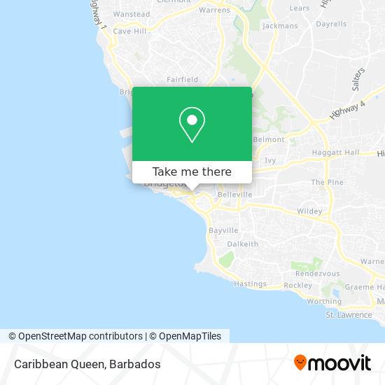 Caribbean Queen map