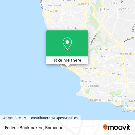 Federal Bookmakers map