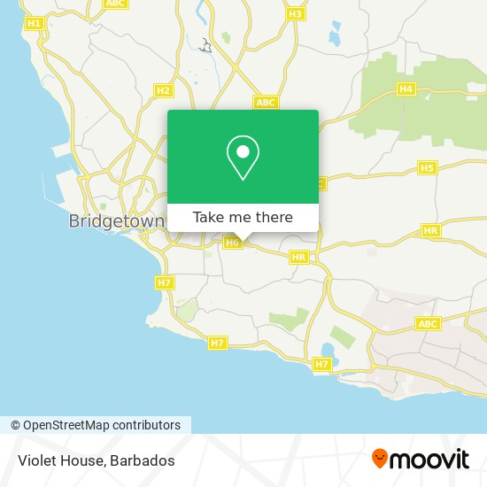 Violet House map