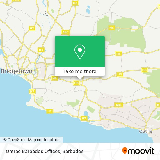 Ontrac Barbados Offices map