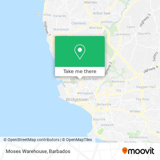 Moses Warehouse map