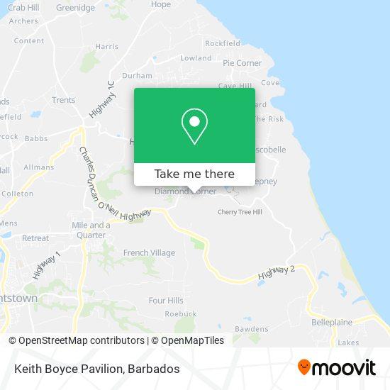 Keith Boyce Pavilion map
