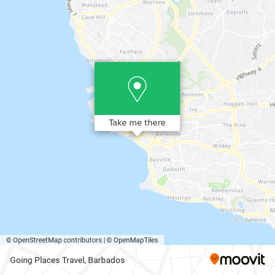 Going Places Travel map