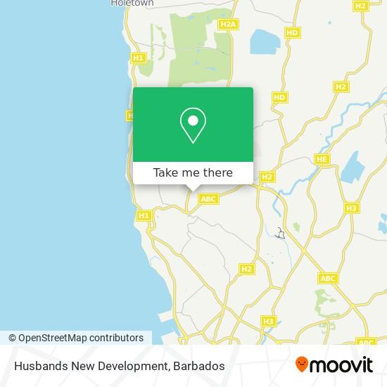 Husbands New Development map