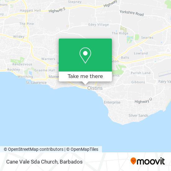 Cane Vale Sda Church map