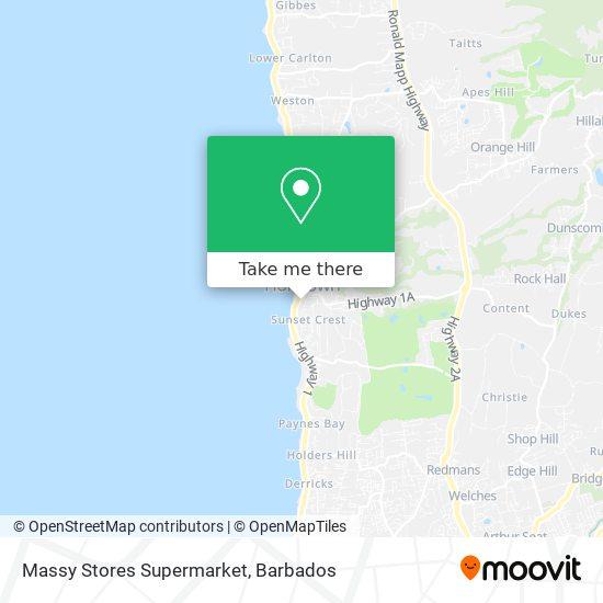 Massy Stores Supermarket map