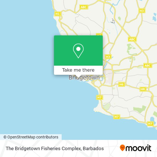 The Bridgetown Fisheries Complex map