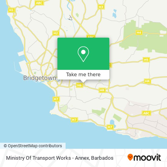 Ministry Of Transport Works map