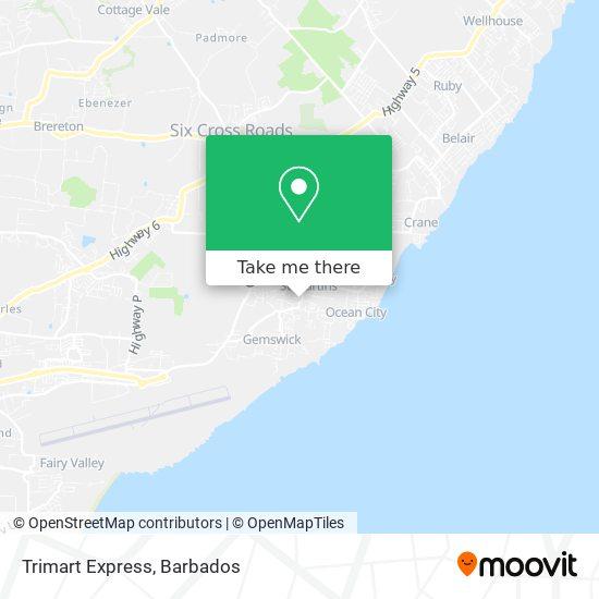 Trimart Express map