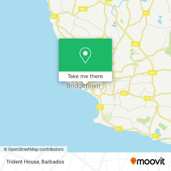Trident House map