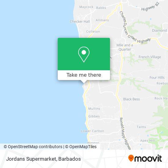 Jordans Supermarket map