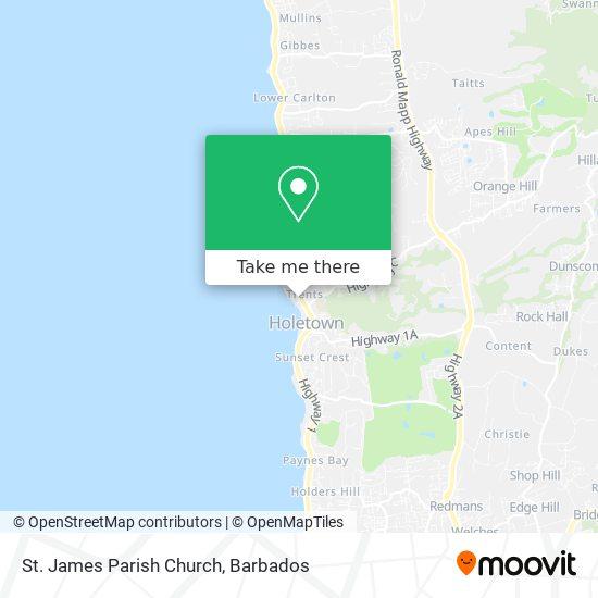 St. James Parish Church map