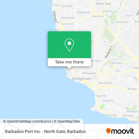 Barbados Port Inc. - North Gate map