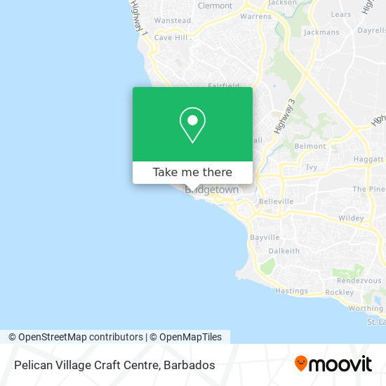 Pelican Craft Centre map