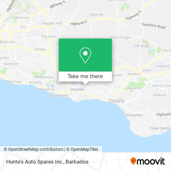 Hunte's Auto Spares Inc. map