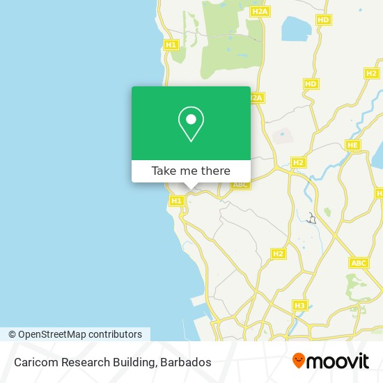 Caricom Research Building map