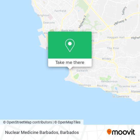 Nuclear Medicine Barbados map