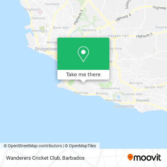 Wanderers Cricket Club map
