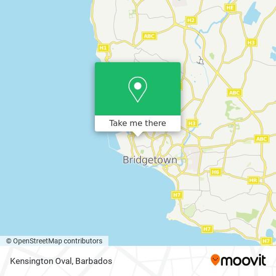 Kensington Oval map