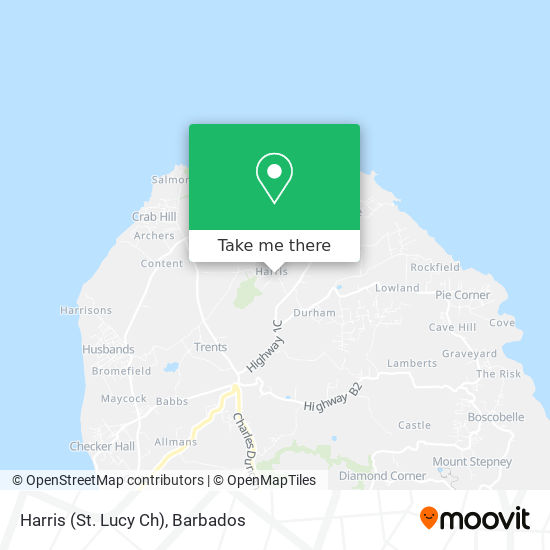 Harris (St. Lucy Ch) map