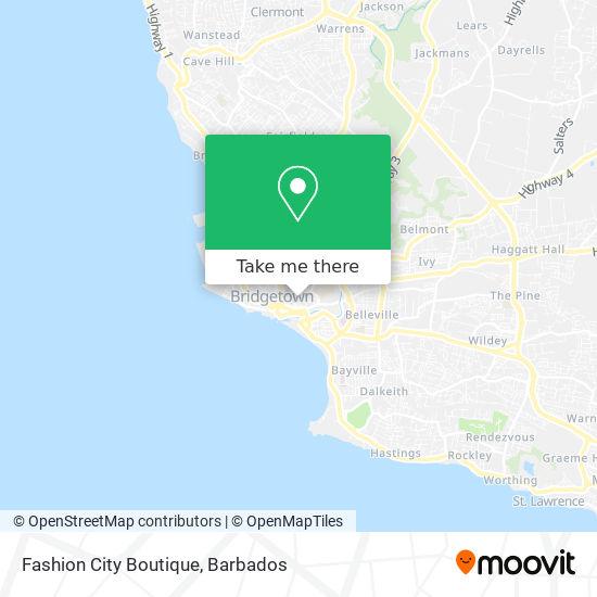 Fashion City Boutique map