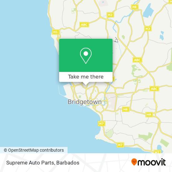 Supreme Auto Parts map