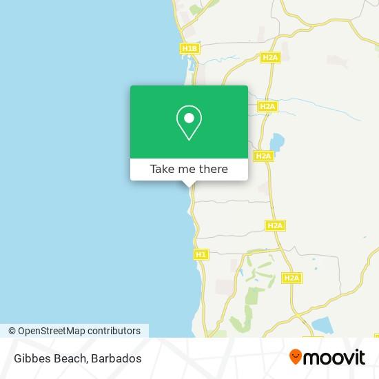 Gibbes Beach map