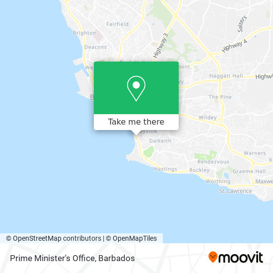 Prime Minister's Office map