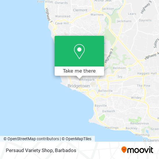 Persaud Variety Shop map