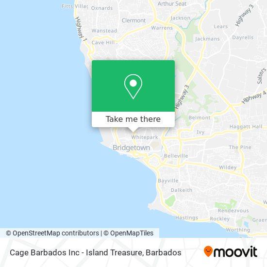 Cage Barbados Inc - Island Treasure map