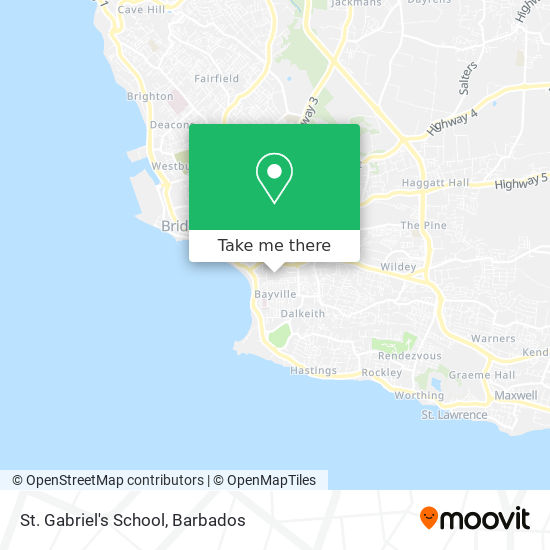 St. Gabriel's School map