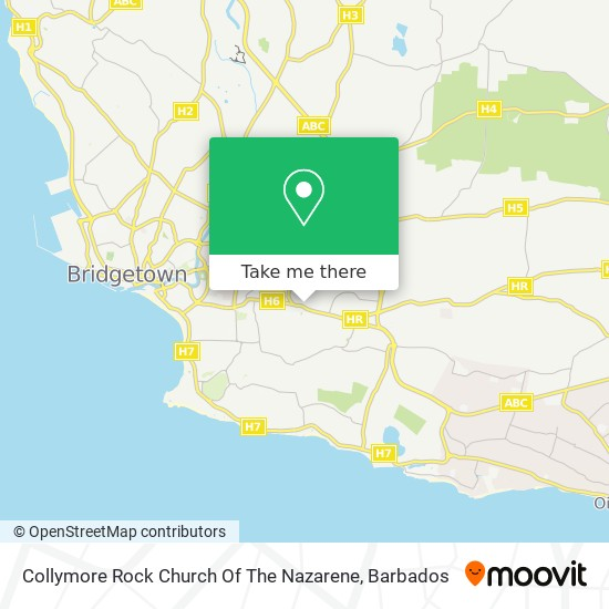 Collymore Rock Church Of The Nazarene map