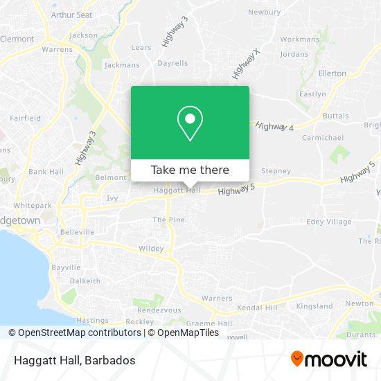 Haggatt Hall map