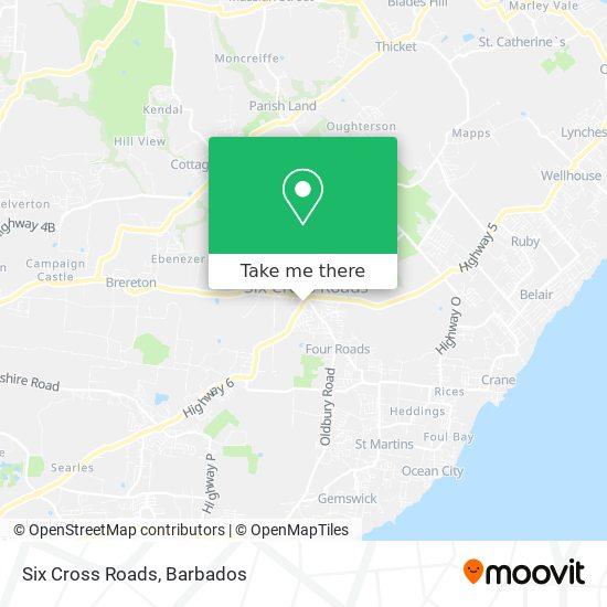 Six Cross Roads map