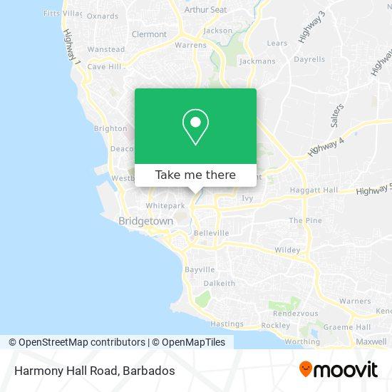 Harmony Hall Road map