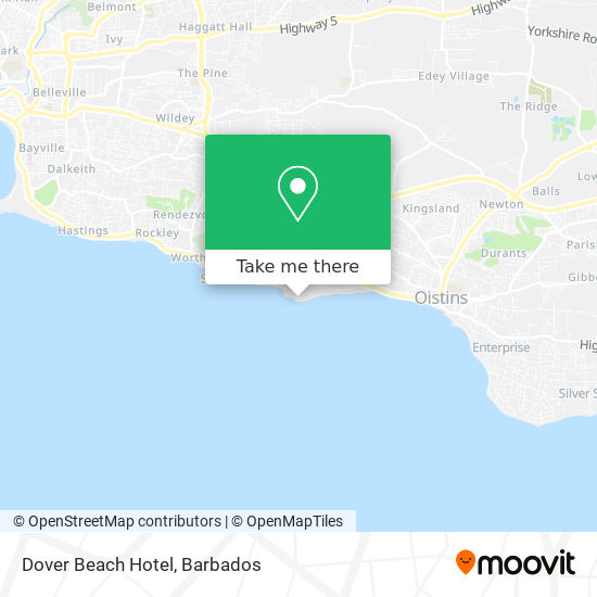 Dover Beach Hotel map