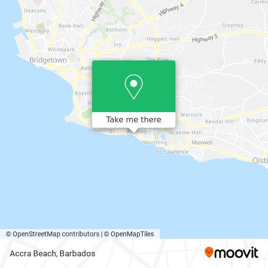 Accra Beach map