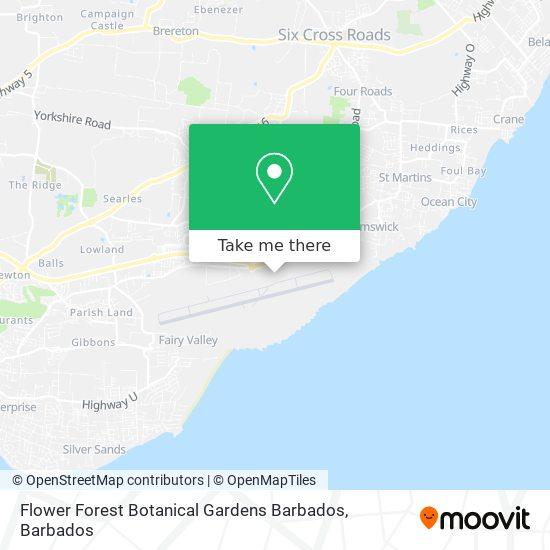Flower Forest Botanical Gardens Barbados map