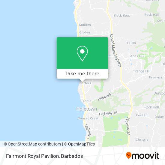 Fairmont Royal Pavilion map