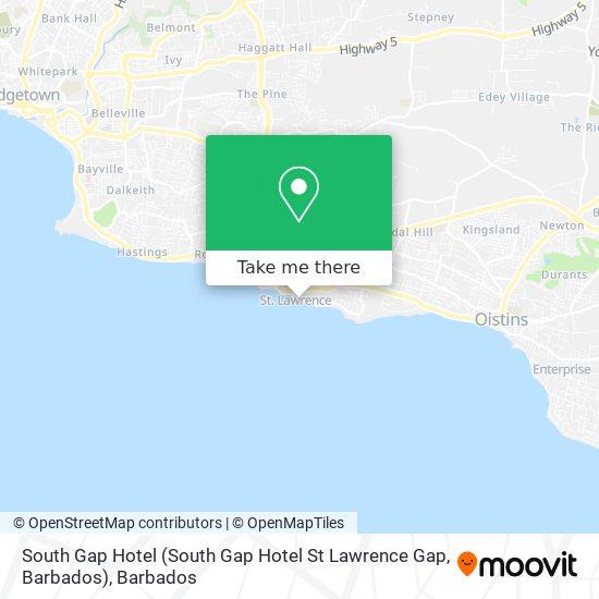 South Gap Hotel (South Gap Hotel St Lawrence Gap, Barbados) map