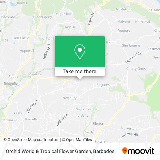 Orchid World & Tropical Flower Garden map