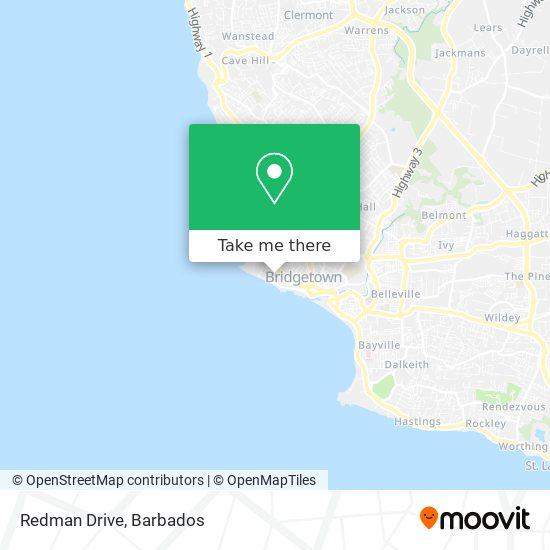 Redman Drive map