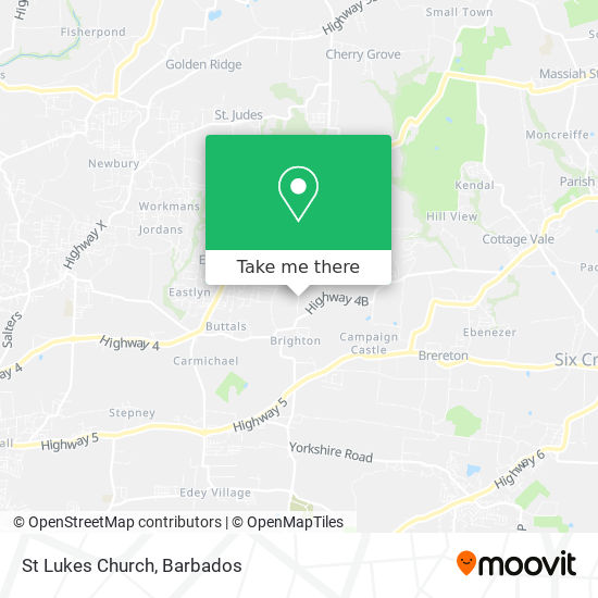 St Lukes Church map