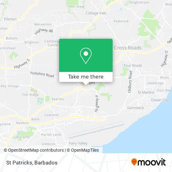 St Patricks map