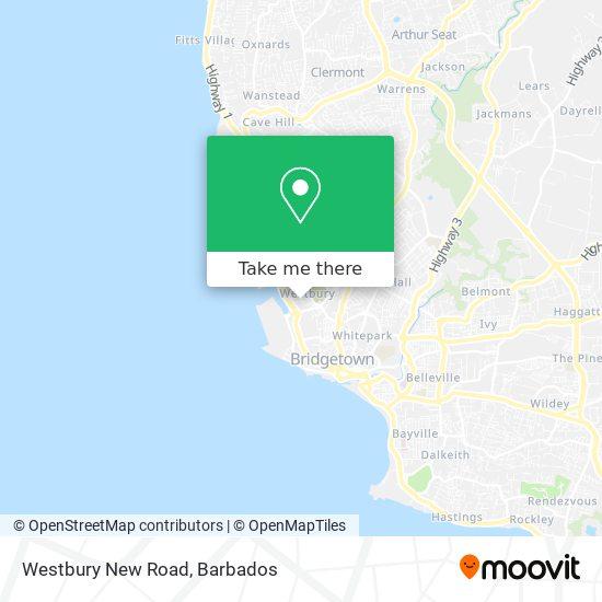 Westbury New Road map