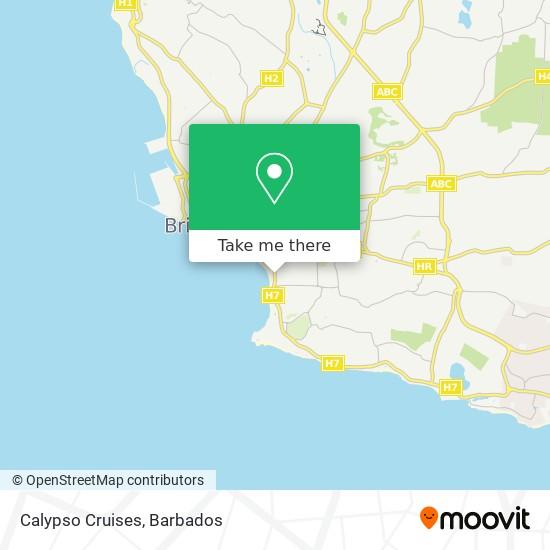 Calypso Cruises map