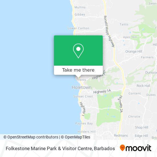 Folkestone Marine Park & Visitor Centre map